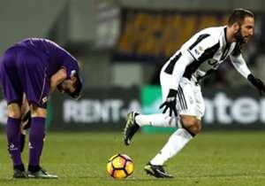 16) Fiorentina 2-1 Juventus | Serie A | 15/01/2017 | Otro gol bien de goleador: después de algunos rebotes, el Pipa la empujó para darle vida a Juve ante la Fiore.