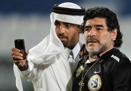 Al Wasl mandó sus condolencias a Diego
