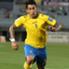 L'attaccante del Las Palmas Sergio Araujo