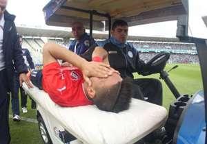 El delantero se dio cuenta en el momento que la lesión había sido grave.