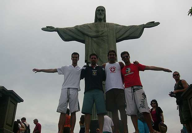 Los cuatro amigos ya estuvieron en el Cristo y ahora volverán para el Mundial