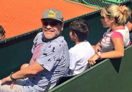 Maradona, en la Copa Davis