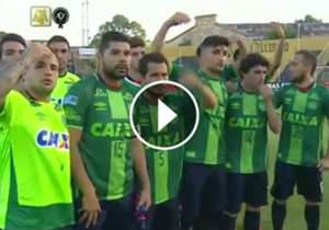 VIDEO: Homenaje San Lorenzo camiseta Chapecoense Torneo Primera Division 03122016
