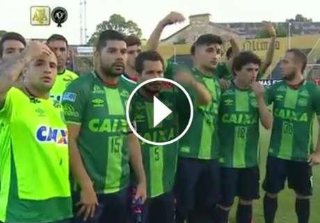 Homenaje de San Lorenzo a Chapecoense