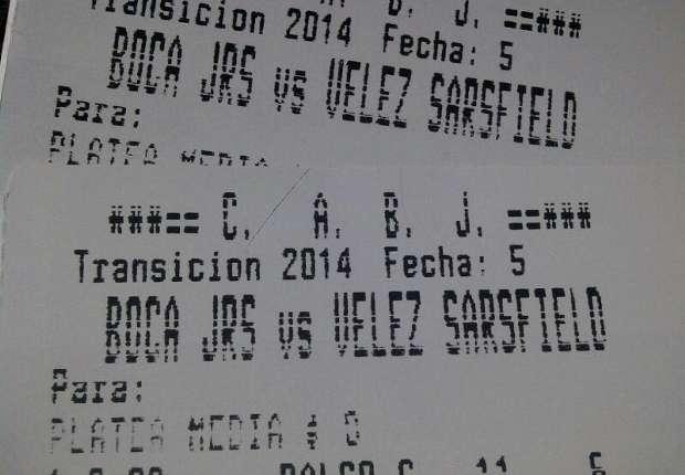 El ganador de las plateas para Boca - Vélez