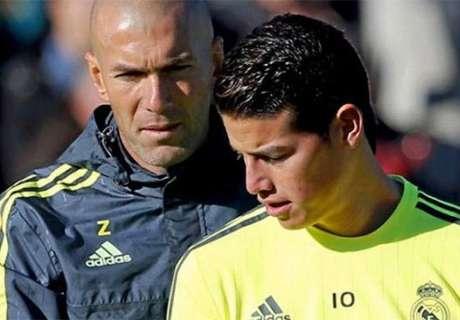James tiene el crédito corto con Zidane