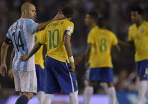 Javier Mascherano Neymar Argentina Brazil Eliminatorias Sudamericanas 13112015