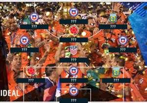 Gran predominio del campeón en el once ideal que Goal.com armó de la Copa América Centenario.