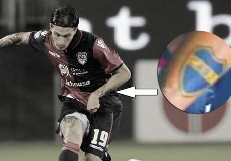 Juega en Cagliari, lleva tatuado a Boca