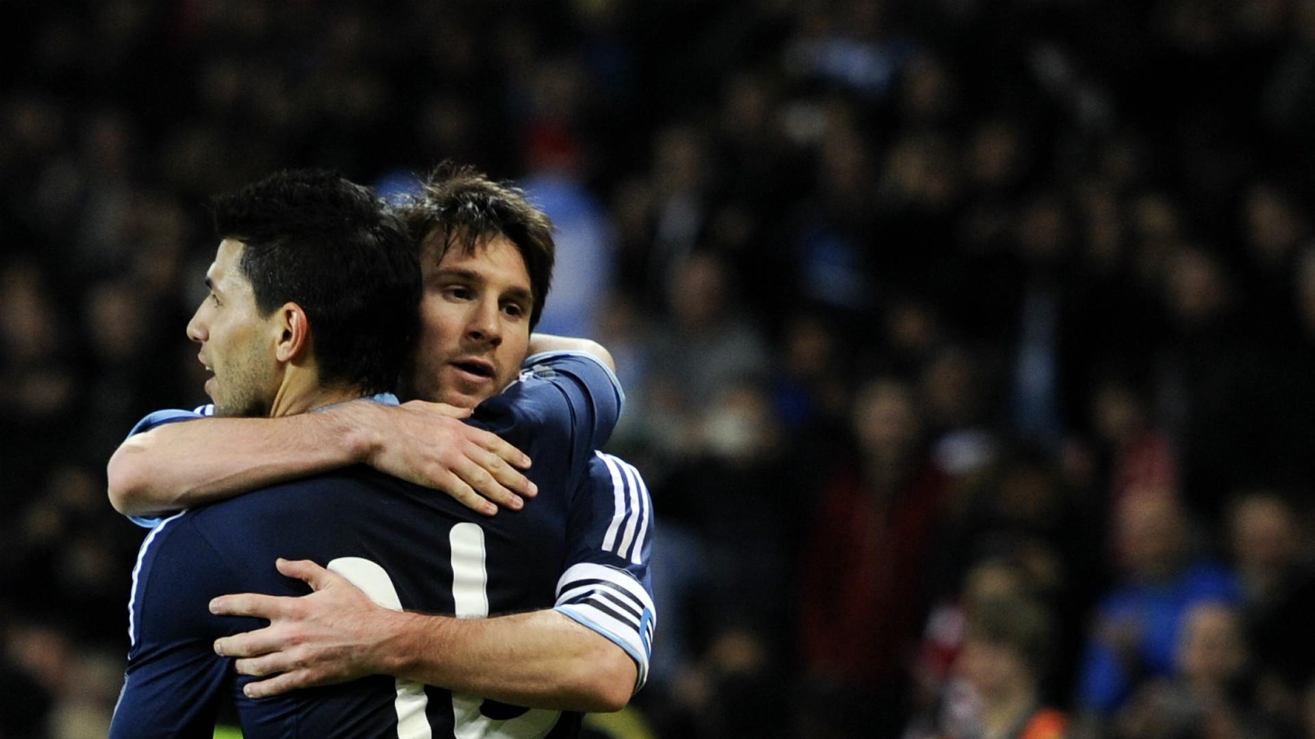 Messi Agüero Argentina Suiza Amistoso 2012
