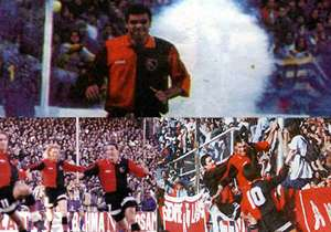 1996: La Lepra ganaba 2-0 en el Gigante y tenía un penal a favor, pero el partido se suspendió porque la hinchada local arrojó pirotecnia a la cancha.