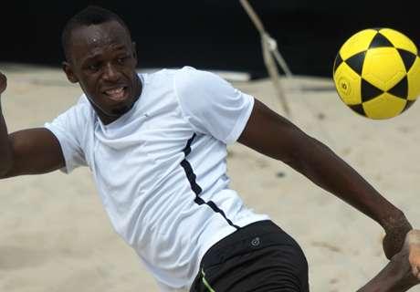 Usain Bolt y el fútbol