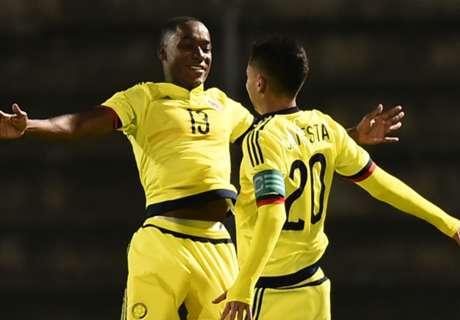Alineación de Colombia contra Chile