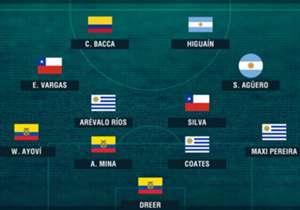 Así queda armado el Anti XI de la Fecha 13 en las Eliminatorias Sudamericanas.