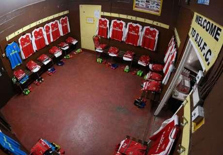 ¿Entran todos? El vestuario que visita Arsenal