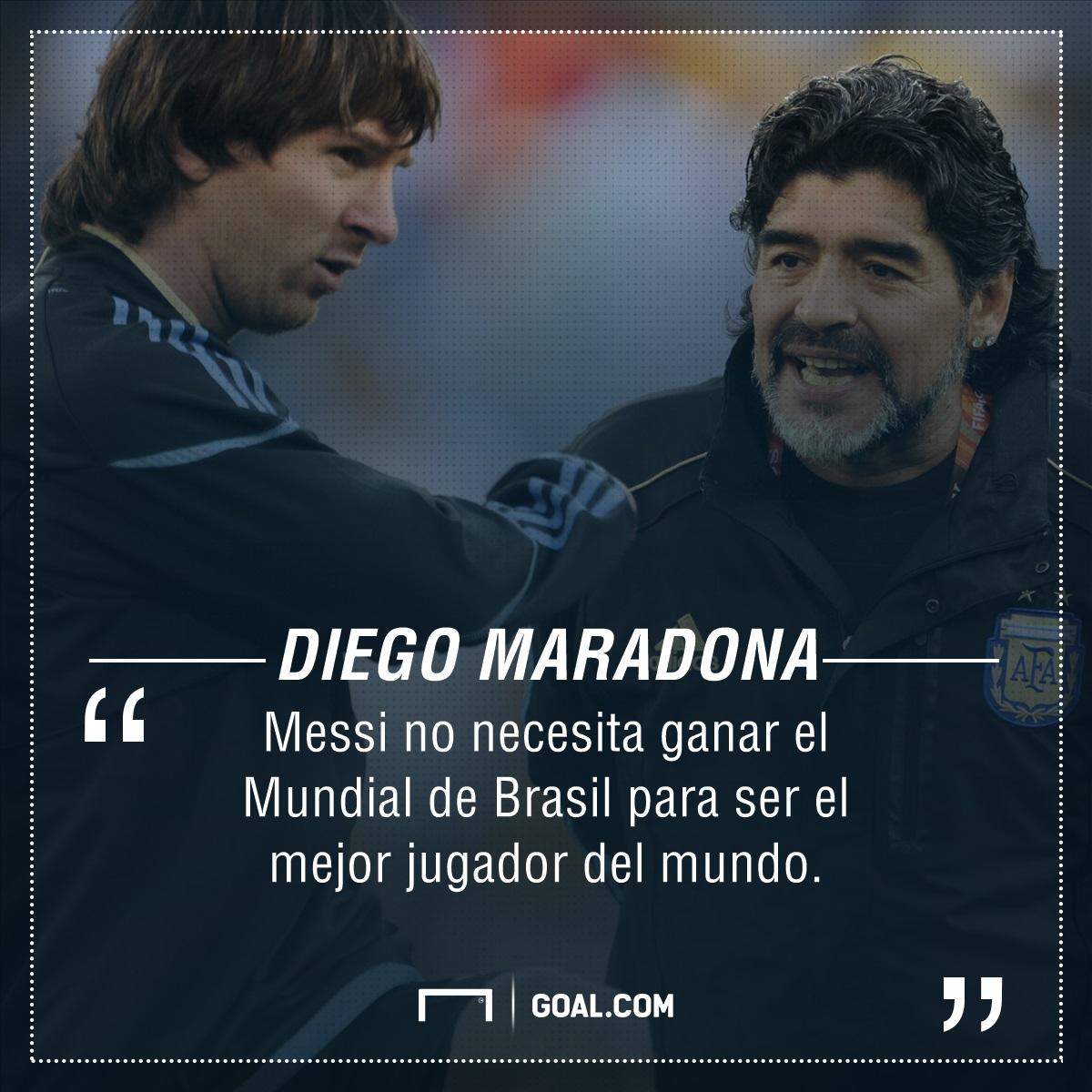 Diego Maradona sobre Lionel Messi: