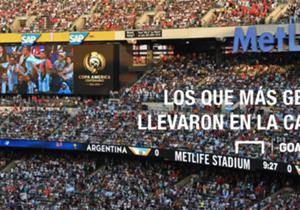 Los imponentes estadios de Estados Unidos se vieron copados por diferentes colores que adornan, en mayor o menor medida, el torneo más importante del continente. Éste es el ranking de público de cada país.