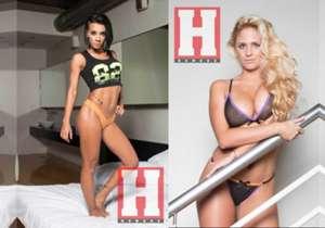 Carolina Pagano y la hermana del futbolista, Melanie Defederico, juntas en Revista Hombre