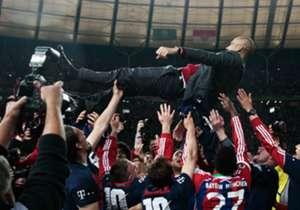 Pep cerró su primera temporada como DT de Bayern Munich con la DFB Pokal 2014. Los bávaros vencieron a Borussia Dortmund por 2-0.