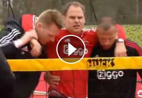 ► Insólita lesión de De Boer