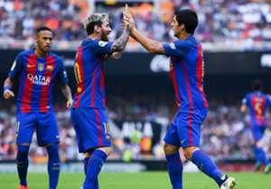 La delantera conformada por Lionel Messi, Luis Suárez y Neymar es, sin dudas, la más poderosa del mundo. Hoy se cumplen dos años del primer partido que jugaron juntos. A continuación, algunos números.