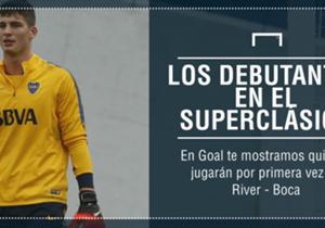 En total, nueve jugadores disputarán por primera vez un Superclásico, este domingo en el Monumental. Enterate quiénes son.