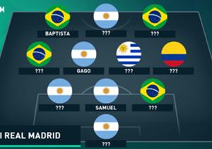 Llegaron llenos de sueños y por la gloria, pero no cumplieron con las expectativas. ¿Cómo forma el anti XI de latinos en Real Madrid?