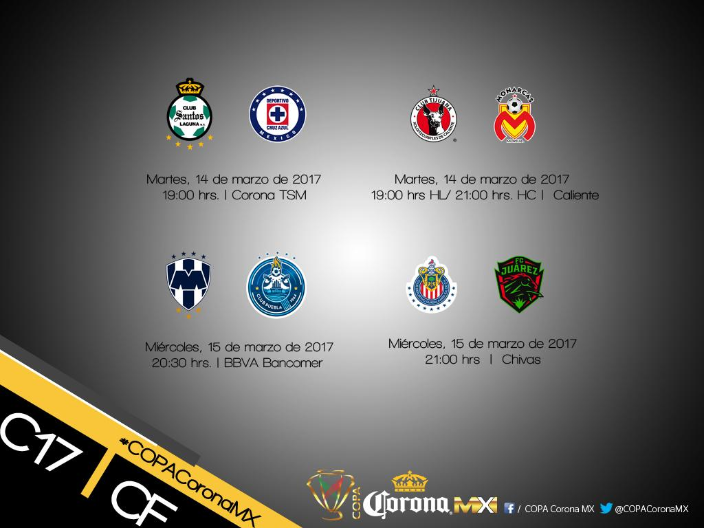 As se jugar n los cuartos de final de la copa mx for Cuartos de final coac 2017