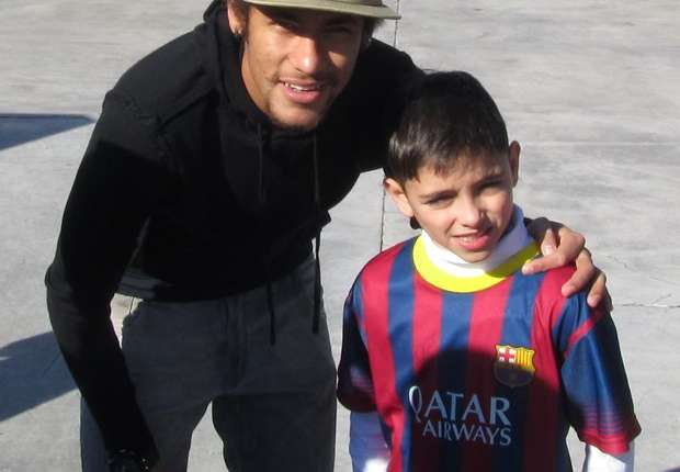 El pequeño crack junto a Neymar