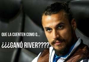 Osvaldo le habló a la cámara tras su gol a Huracán Las Heras y los hinchas se acordaron de la frase apenas terminó el partido.