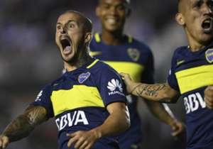 Darío Benedetto marcó el primer tanto ante Vélez y comenzó a decretar la gran victoria de Boca. En total, ya tiene 11.