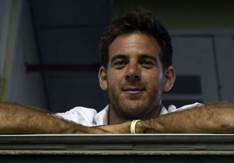 Del Potro attacked by sprinklers at Boca