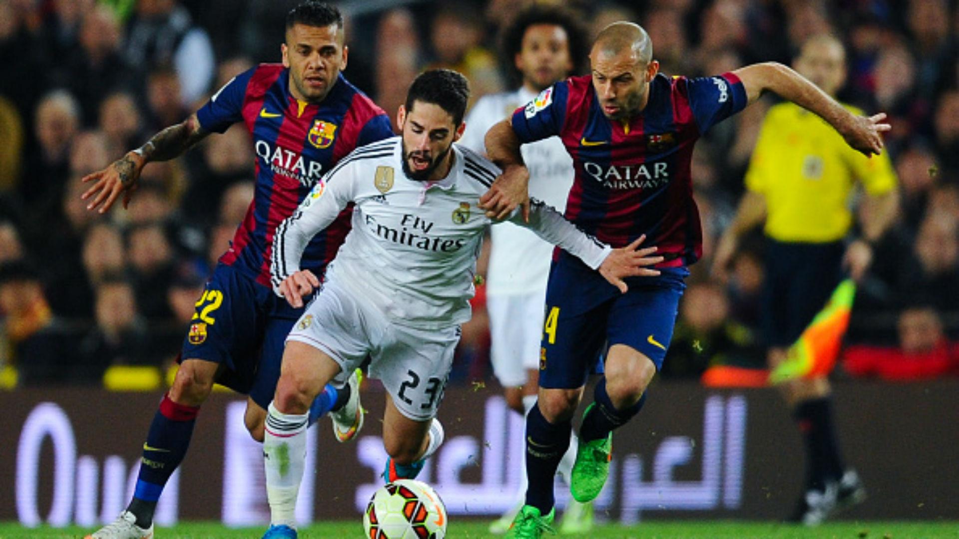 Barcelona Real Madrid 15/16 La Liga Camp Nou Isco Mascherano