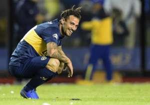 Osvaldo tuvo una clara en el primer tiempo, pero su media vuelta dio en el palo.