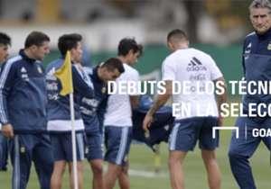 Este jueves 1 de septiembre debutará Edgardo Bauza en la Selección argentina. A continuación repasaremos todos los debuts de los técnicos desde César Luis Menotti. ¿Una particularidad? Sólo un técnico debutó por eliminatorias (el resto lo hizo en amist...