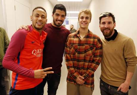 Justin Bieber visitó al Barcelona