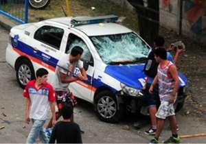 El jefe del operativo policial no pudo dar las garantías para seguir con el partido.