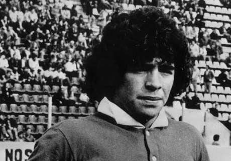Há 39 anos, estreava Diego Maradona