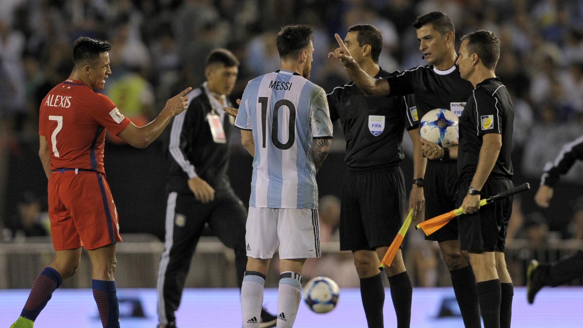 Lionel Messi Alexis Sanchez Argentina Chile Eliminatorias Sudamericanas 2018