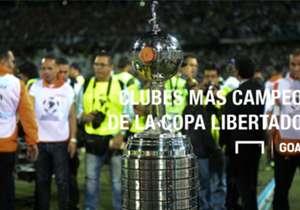 Desde 1960 hasta 2015, el trofeo más importante del continente fue alzado por 25 instituciones diferentes.