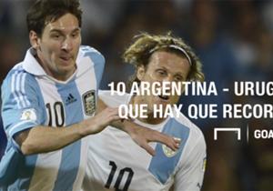 Este jueves, en Mendoza, se jugará una nueva edición del Clásico del Río de la Plata, el partido de selecciones más disputado en la historia del fútbol, con 191 ediciones. Acá, un repaso por algunos de los antecedentes más recordados.