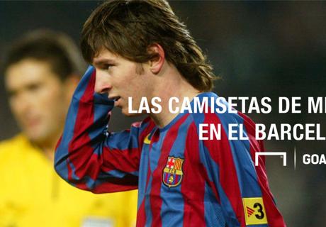 Las camisetas de Messi en Barcelona
