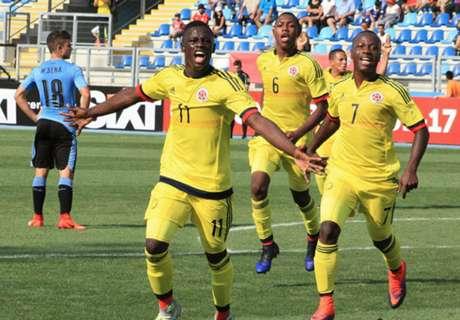 Colombia venció a Uruguay
