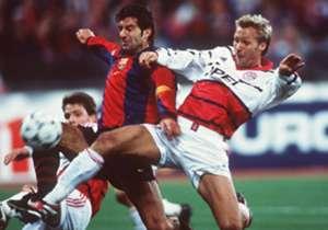 El primer cruce se dio en la edición 1998-99 por el Grupo D en Alemania, fue 1-0 para los locales.