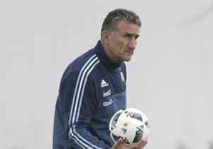 Argentina tuvo su primera práctica bajo las órdenes de Bauza de cara al duelo por Eliminatorias ante Uruguay en Mendoza. Acá, las mejores postales