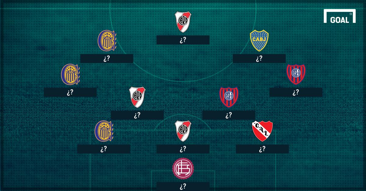 El XI ideal del fútbol argentino.
