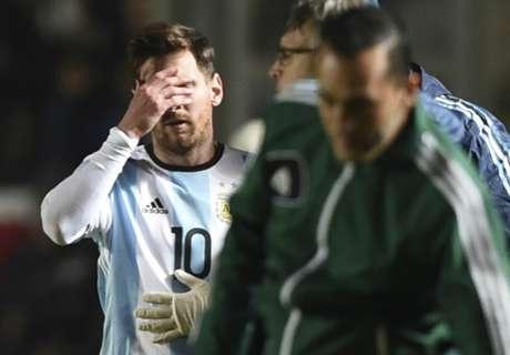 GALERÍA: La dura lesión de Messi