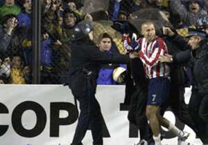 Bofo hizo pedazo a Boca en 2005.
