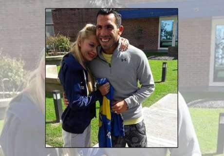 Tevez meets fan after horrific attack