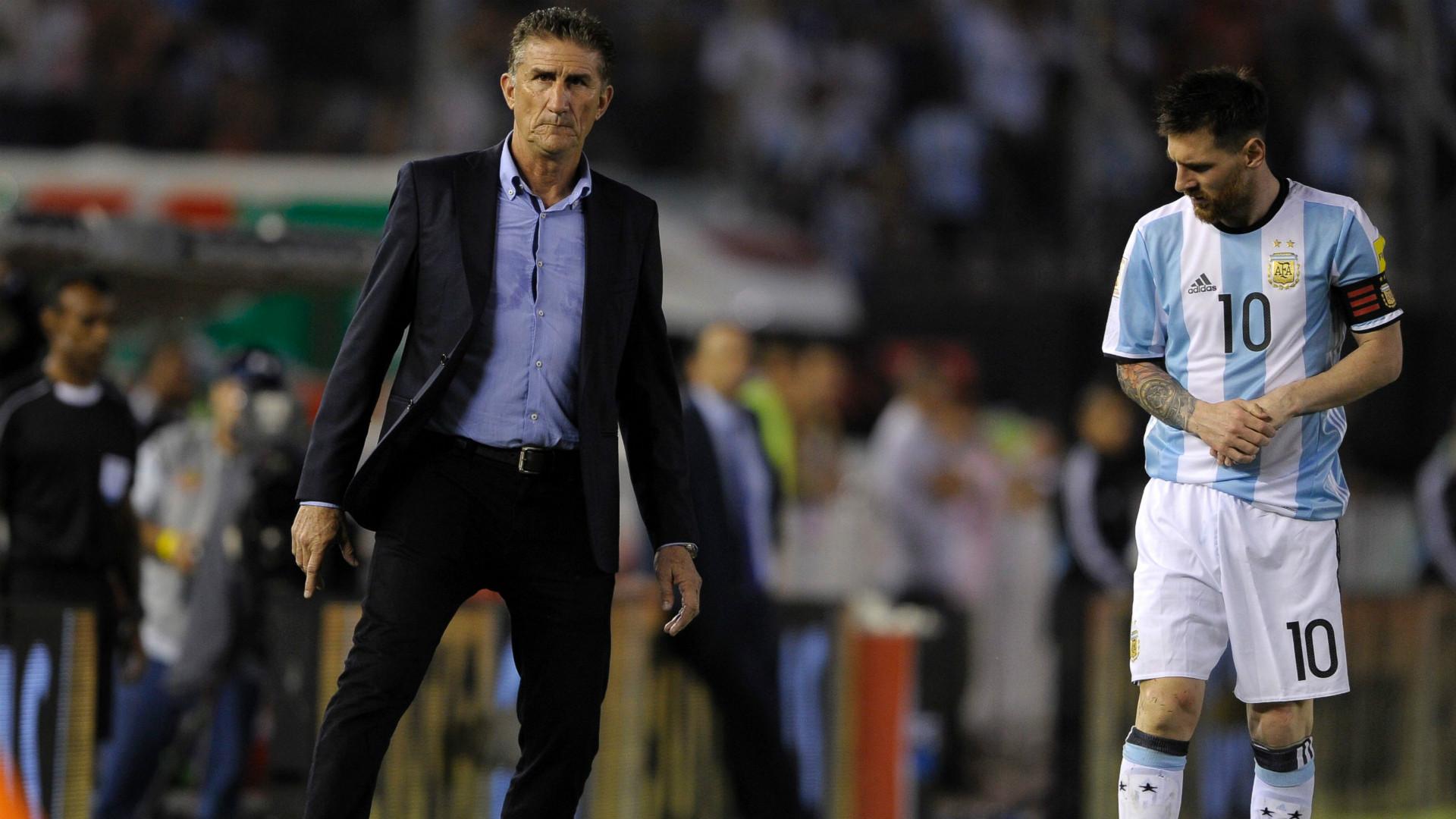 Edgardo Bauza Lionel Messi Argentina Chile Eliminatorias Sudamericanas 2018